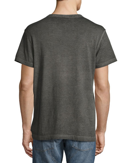 Dotted Camo Cotton T-Shirt, Black/Gray