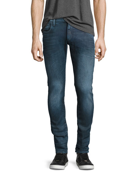 G-Star 3301 Deconstructed Super-Slim Jeans, Loomer Blue