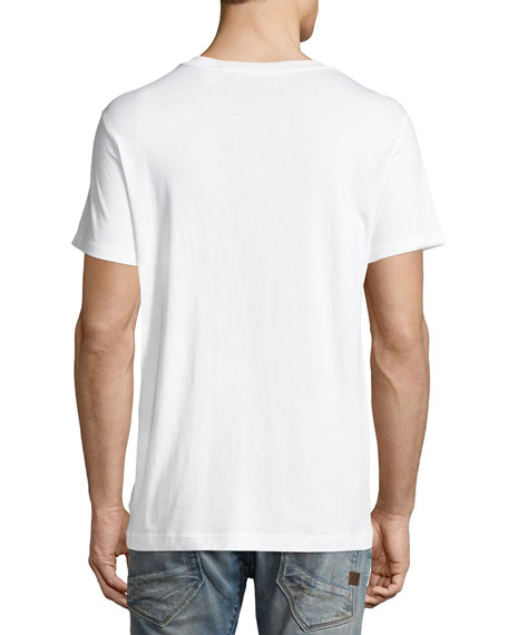 Camo RAW Logo T-Shirt, White