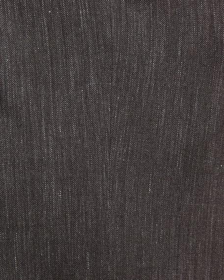Herringbone Wool-Blend 2-Button Sport Coat