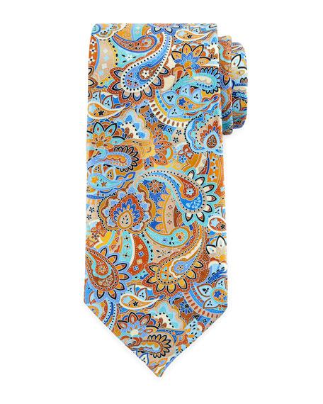 Ermenegildo Zegna Quindici Paisley Tie, Rust