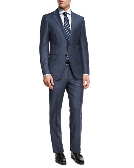 Ermenegildo Zegna Tonal Plaid Trofeo® Wool Two-Piece Suit,