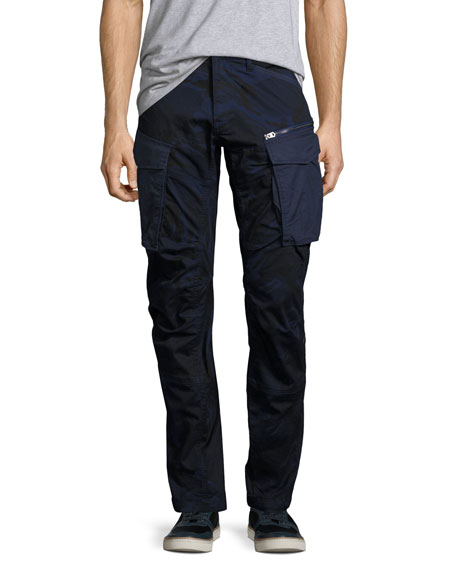 G-Star Rovic 3D Tapered Cargo Pants, Blue Camo