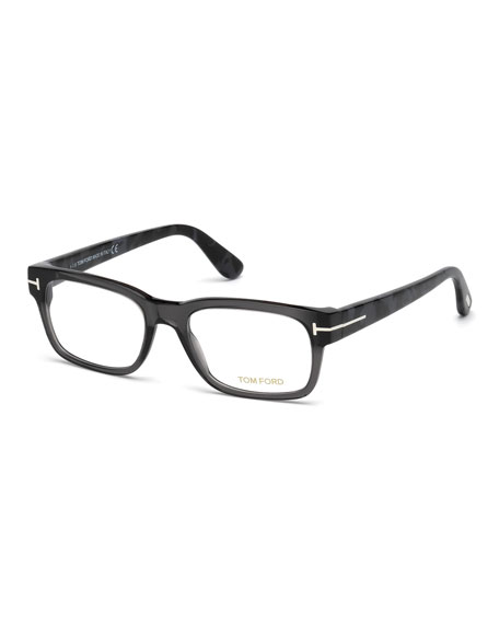 Rectangular Acetate Eyeglasses, Gray
