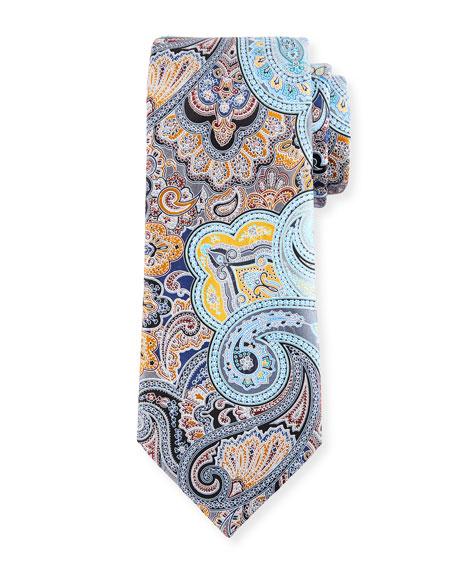 Ermenegildo Zegna Quindici Paisley Tie, Gray