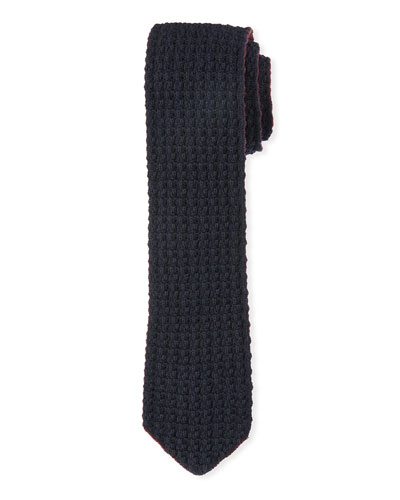 Cashmere Knit Tie, Red
