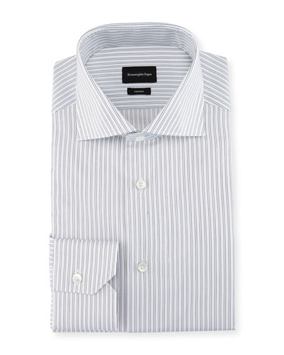 Trofeo® Twin-Stripe Dress Shirt, White/Blue