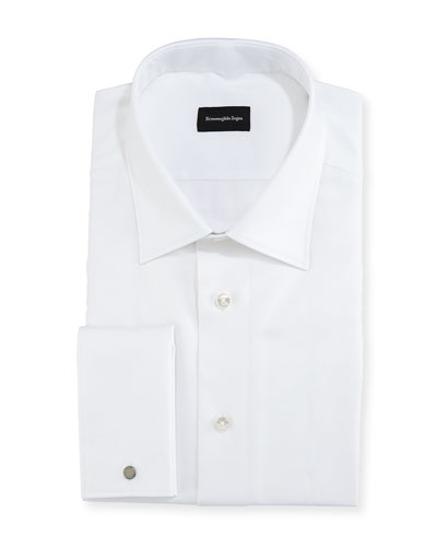 Chevron Cotton Dress Shirt