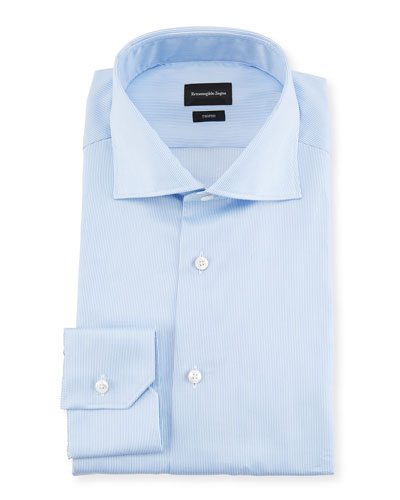 Trofeo® Narrow-Stripe Cotton Dress Shirt