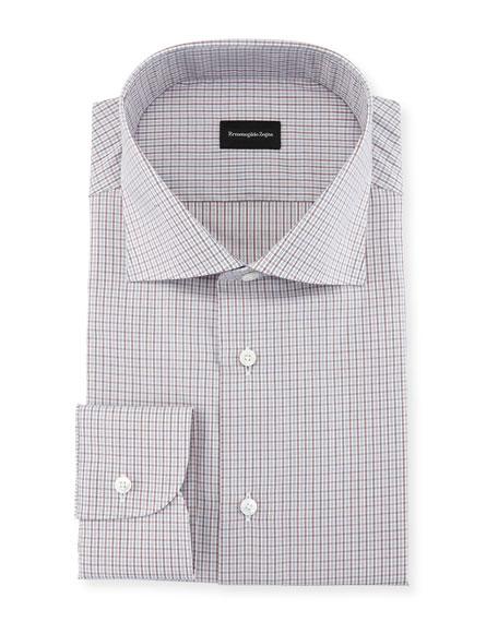 Ermenegildo Zegna Mini-Check Cotton Dress Shirt