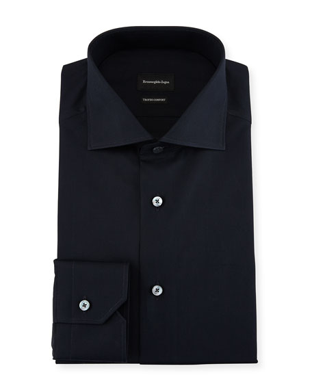 Ermenegildo Zegna Trofeo?? Comfort Dress Shirt, Navy