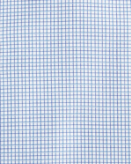 Micro-Check Cotton Dress Shirt