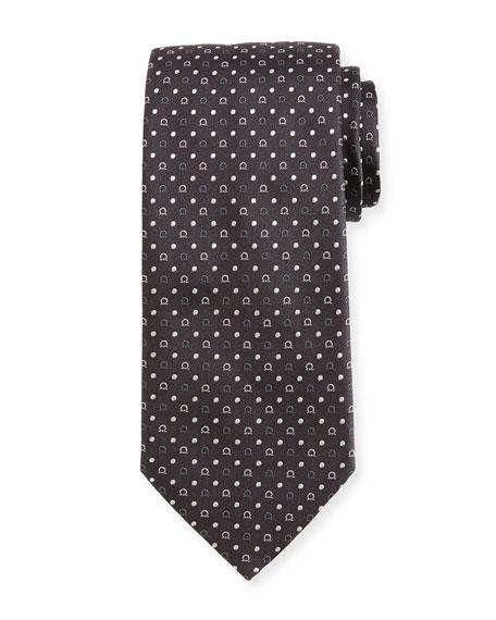 Salvatore Ferragamo Gancio & Dot Silk Twill Tie,
