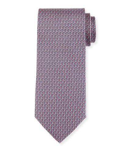 Desiderio Gancio Silk Tie, Gray
