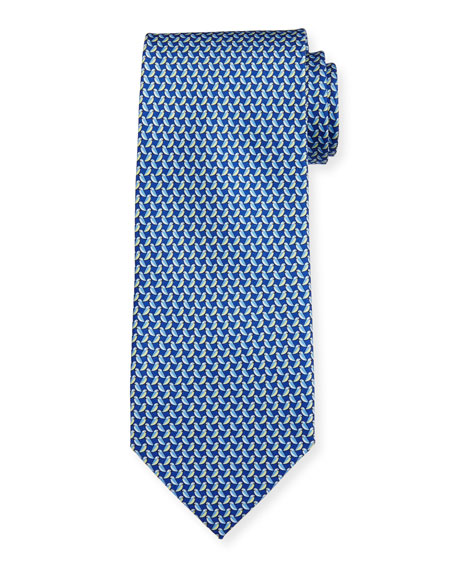 Salvatore Ferragamo Diama Bird-Print Tie