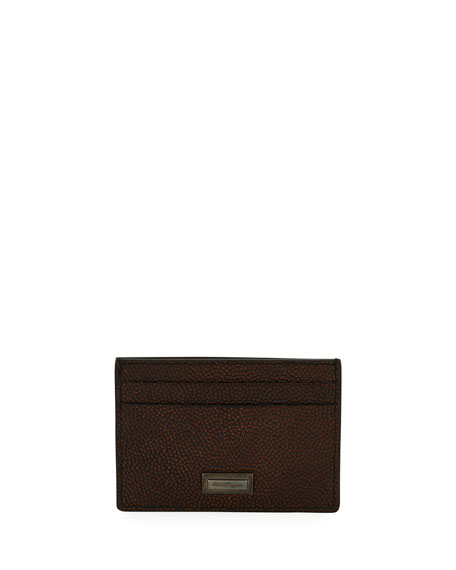 Salvatore Ferragamo Men's Ten Forty One Leather Card