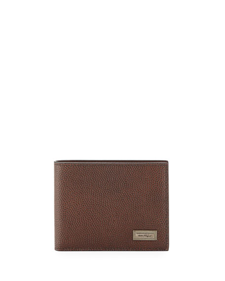 Salvatore Ferragamo Ten Forty One Leather Bi-Fold Wallet,