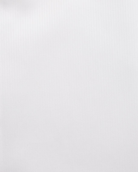 Brioni Tonal Micro-Stripe Dress Shirt, White