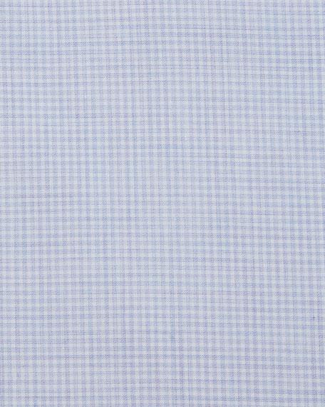 Micro-Check Cotton Dress Shirt