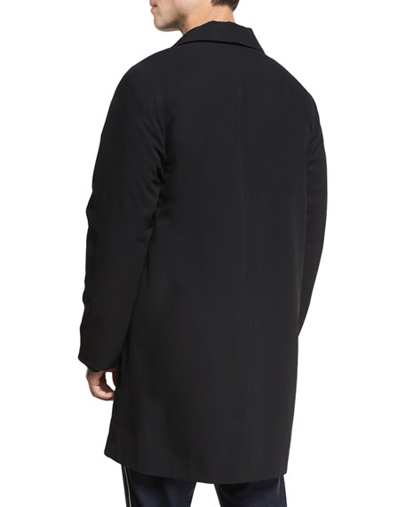 Water-Resistant Reversible Macintosh Coat, Black/Navy