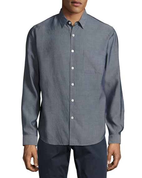 Theory Rammy Pocket Sport Shirt, Indigo