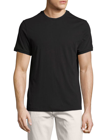 Theory Rylee Pima Cotton Double-Edge T-Shirt