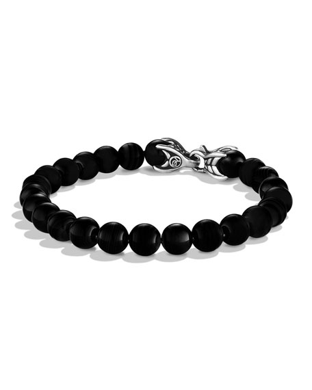 David Yurman Black Onyx Spiritual Bead Bracelet