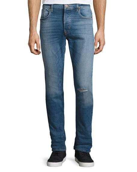 Sartor Slouchy Skinny Denim Jeans, Blue