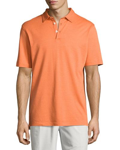 Perfect Piqué Polo Shirt, Orange
