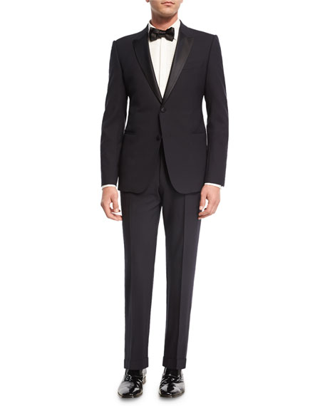 M Line Two-Piece Tuxedo Suit, Navy