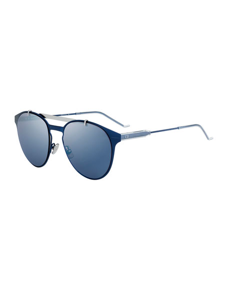 Dior Men's Metal Pilot Sunglasses, Blue