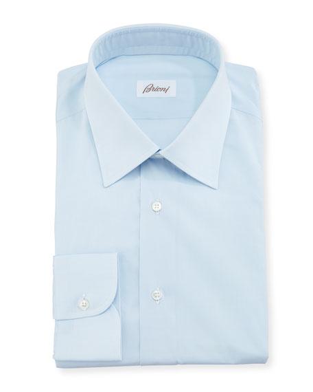 Solid Cotton Poplin Dress Shirt