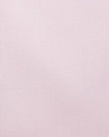 Textured Solid Cotton Dress Shirt
