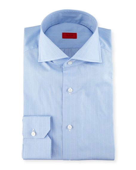 Glen Plaid Twill Dress Shirt