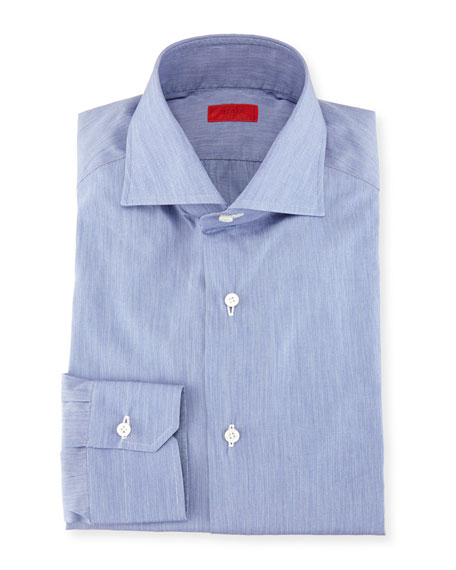 Isaia Slim-Fit Basic Solid Cotton Dress Shirt