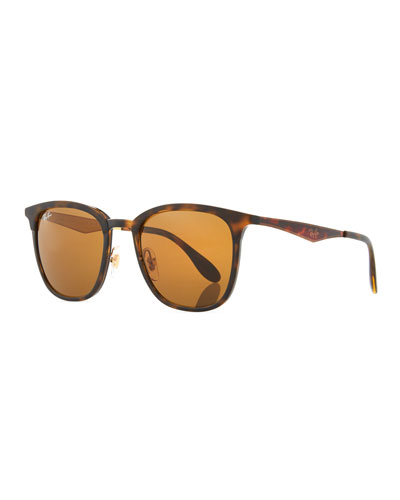 Men's RB4278 Square Sunglasses, Black