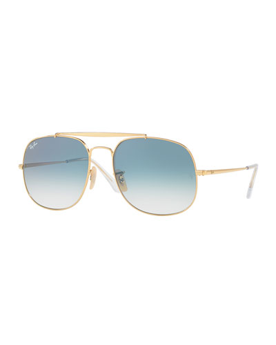 The General Aviator Sunglasses, Golden