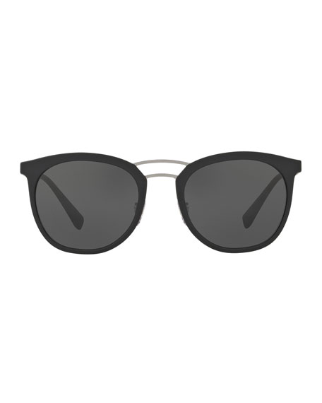 Linea Rossa Men's Double-Bridge Phantos Sunglasses, Black