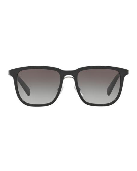 Redux Men's Square Acetate Sunglasses, Black