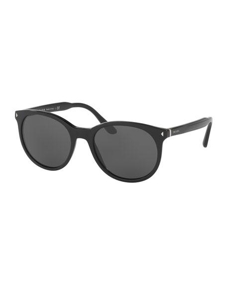 Men's Universal-Fit Round Sunglasses, Black