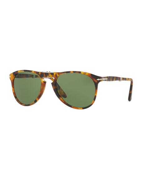 Persol 714-Series The Evolution Folding Pilot Sunglasses,