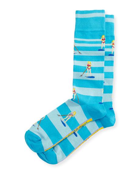 Where's My Speedboat Socks, Blue