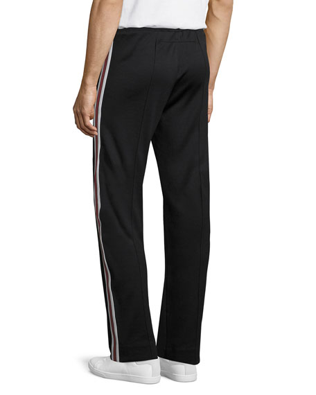Side-Stripe Track Pants, Black