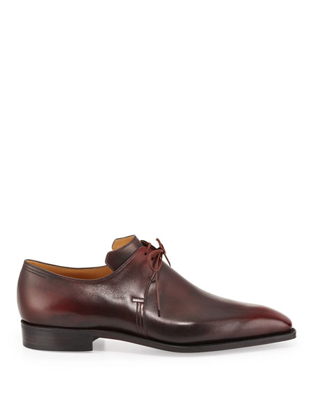 Arca Calf Leather Derby Shoe, Dark Burgundy