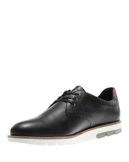 Reuben Lugged-Sole Oxford Shoe, Black