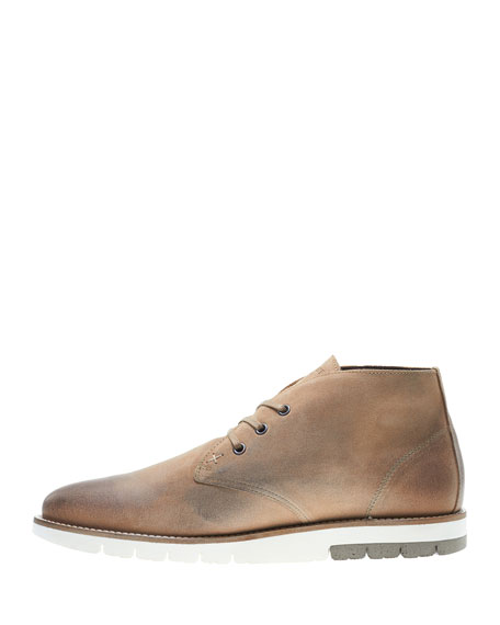 Gibson Lugged-Sole Chukka Boot, Stone