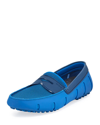 Mesh & Rubber Penny Loafer, Royal Blue