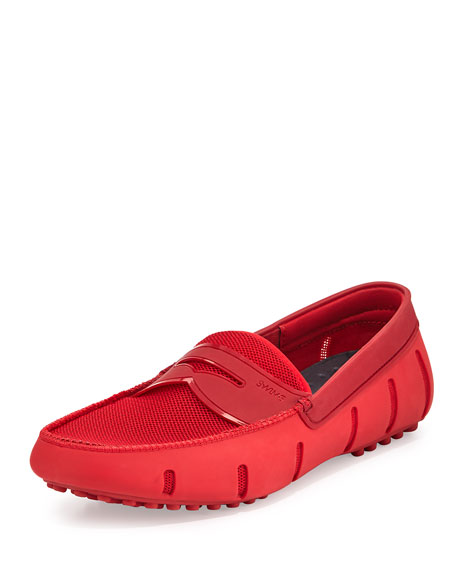 Swims Mesh & Rubber Penny Loafer, Red