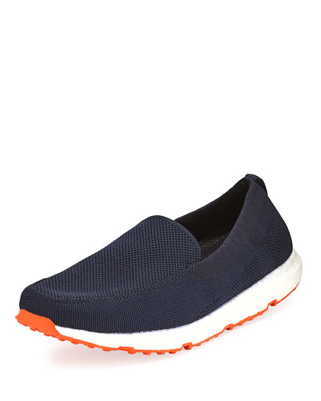 Swims Breeze Leap Knit Boat Shoe, Navy