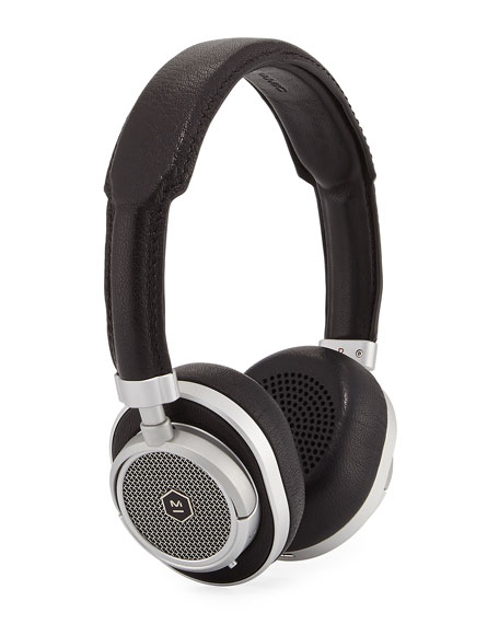 Master And Dynamic Black Wireless Mw50 Headphones in Black/Black